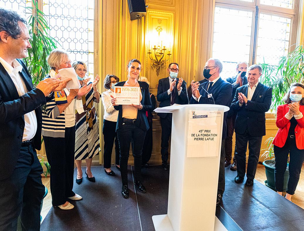 Remise du 45e Prix à Hélène Dumas
